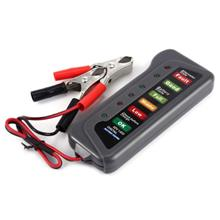 12V Digital Battery Alternator Tester Voltage 6 LED Lights Display Diagnostic