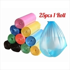 25pcs/pack Garbage Bags Flatten Up Kitchen Trash Bags Rubbish Bucket Kitchen C