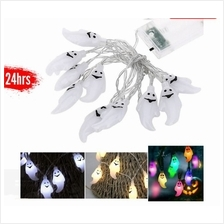 10LED Pumpkin String Lights Ghost Spider Lights For Halloween Party Decoration