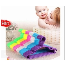 10pcs Durable Hanger Baby Cloth Plastic Clothes Rack Anti-Slip Clothing Childr