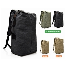 Bag Canvas Sports Backpack Beg Men Large Korean Rucksack Army Military Tactica