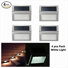 4 PCS Solar LED Lighting Bright Light Waterproof Night Auto On Staircase Wall