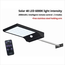 48 LED Waterproof Solar Motion Sensor 6000k Light Outdoor Smart Remote Control