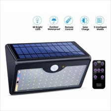 60 LED Wireless Waterproof Solar LED Light Motion Sensor Lights Outdoor with R
