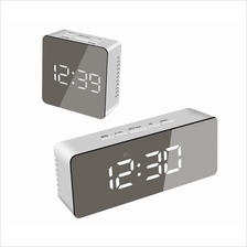 "USB Mirror Alarm Clock Time Display 5.5 "" LED Dimmer Snooze Temperature"