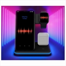 3-in-1 Wireless Charger Stand Qi 15W Fast Charging Station, Apple iWatch + Air