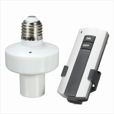 E27 Wireless Light Bulb Holder Cap Socket + RF Remote Control