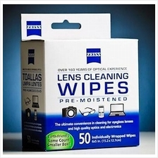 Carl Zeiss - Lens Cleaning Wipes Pre-Moistened - 50 pcs