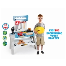 Kids Toys Pretend Big Engineering Tools Play Set Deluxe Play Set