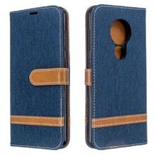 Nokia 6.2 7.2 jean fabric flip wallet card slot case casing cover