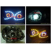 DEPO Perodua Kelisa CCFL 5inch Projector Head Lamp 2-Function LED DRL