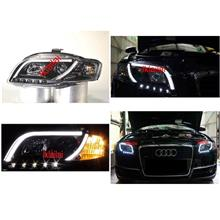 AUDI A4 B7 05-08 Projector Head Lamp Cool Starline DRL R8 Black