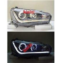 Mitsubishi LANCER EVO X '08 Projector Head Lamp R8 Cool Starline DRL