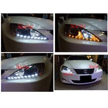 Lexus IS250 Projector Head Lamp with 2-Function DRL