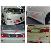 Toyota Alphard '05 Full Set Body Kit [ABS Material]