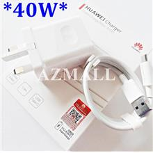 (SuperCharge) 40W Charger 5A Type C Cable Huawei P30 Pro & Mate 20 Pro