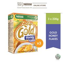 Nestle Gold Honey Flakes 220g x 3 Box)