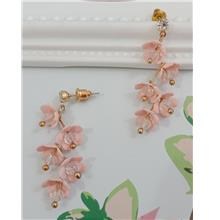 Bunch of pink flowers earrings