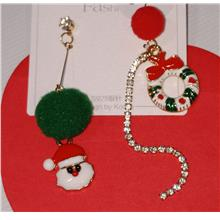 Santa flower ring earrings