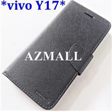 "Card Slot Stand Fancy Diary Case Flip Cover for vivo Y17 (6.35"")"