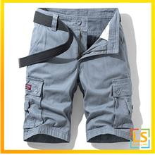 Men Multi Pockets Tracking Knee Length Short Pants