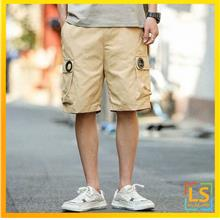 Plus Size Men Knee Length Casual Short Pants