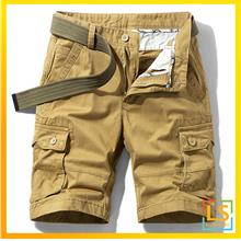 Multi Pockets Men Knee Length Cotton Short Pants