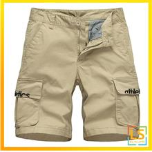 Multi Pocket Men Knee Length Letter Knitting Short Pants