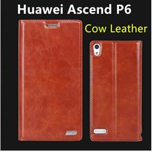 Rmet Cow Leather Huawei Ascend P6 Flip Case Cover + Free SP