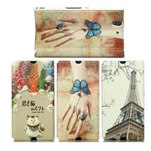 Cartoon Sony Xperia Z L36H Case Cover Casing + Free Screen Protector