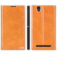 Rmet Cow Leather Sony Xperia T2 Ultra XM50h Flip Case Cover + Free SP