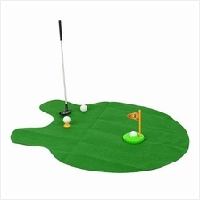 Mini FAMILY KID Golf Mat Potty Putter LEARN Game PLAY SET golf set