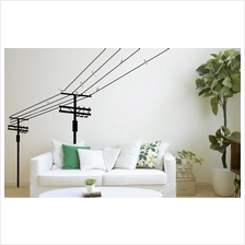 wall sticker wire electrical cable city look black&white series