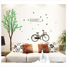 wall sticker tree bicycle bird colourful & designers' series