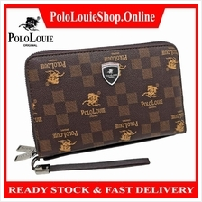 Original Polo Louie Men Luxury Leather Card Phone Clutch Wallet Pouch