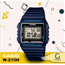 CASIO W-215H-2AV STANDARD DIGITAL WATCH 100% ORIGINAL