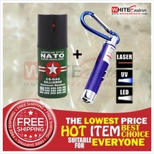 (FREE SHIPPING) Pepper Spray + 3-in-1 Keychain Flashlight Package 6s