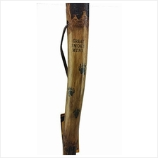Wooden Walking Pole Natural Hardwood Hiking Stick with Strap, 54-inch/From USA