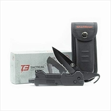 StatGear T3 Tactical Auto Rescue Tool - knife, seatbelt cutter, spring-loaded