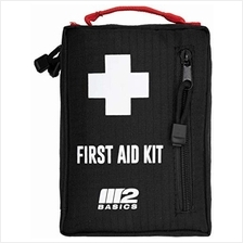 M2 BASICS Outdoor First Aid Kit for Hiking, Camping, Backpacking, Travel, Cycl