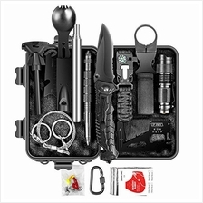 Limechoes Survival Kit,15 in 1 Emergency Survival Kit and Equipment Tools, Pro