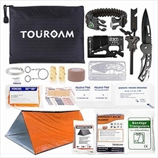 TOUROAM Outdoor First Aid Survival Kit for Adventure Camping Hiking Fishing -