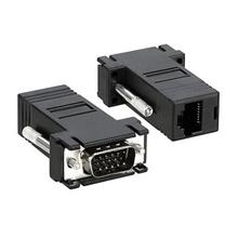 VGA Extender Male to LAN Cat5e RJ45 Ethernet Adapter