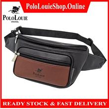 Original Polo Louie Men Leather Waist Pouch Chest Bag Cross Body