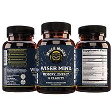 Wiser Mind Nootropic | Memory, Focus, Mental Clarity Supplement | Lions Mane A