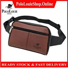Original Polo Louie Men Elegant Leather Waist Bag Fashion Chest Pack
