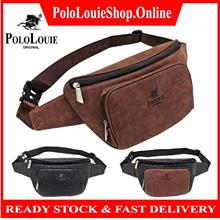 Original Polo Louie Men High Quality Leather Waist Bag / Shoulder Bag
