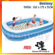 262x175x51cm 54006 Extra Large 2 Layers Family - [POOL WITH AIR PUMP]