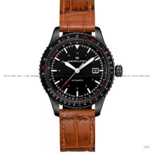 HAMILTON H76625530 Khaki Aviation Converter Auto 42mm Leather Brown