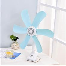 PORTABLE MINI 6 Blades Leaf Adjustable Energy Saving Clip Fan Kipas PO